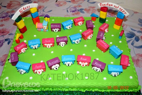 Торт на выпускной в детский сад фото